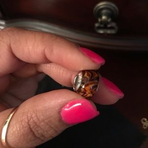 Kay Jewelers Jewelry - Black & Brown Marbled Charm